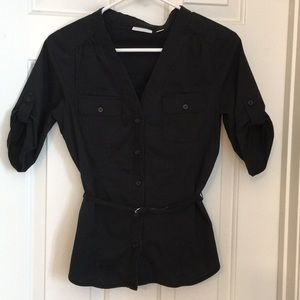 New York and co button up blouse